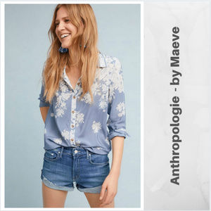 Anthropologie / Maeve silk floral shirt  sz 10 EUC